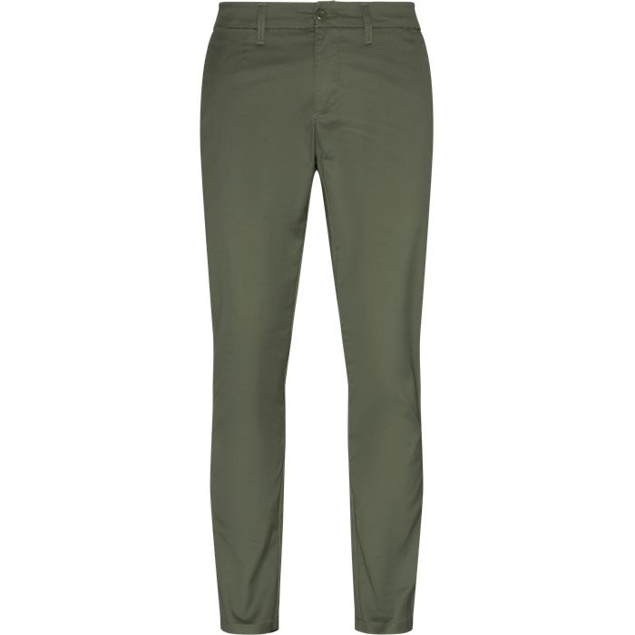 Trousers - Slim - Green